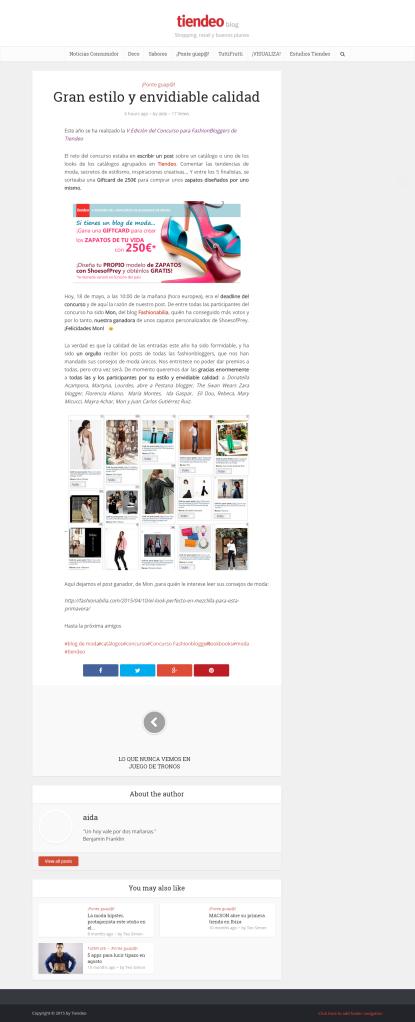Tiendeo  Concurso fashionbloggers-fashionabilia-ganador