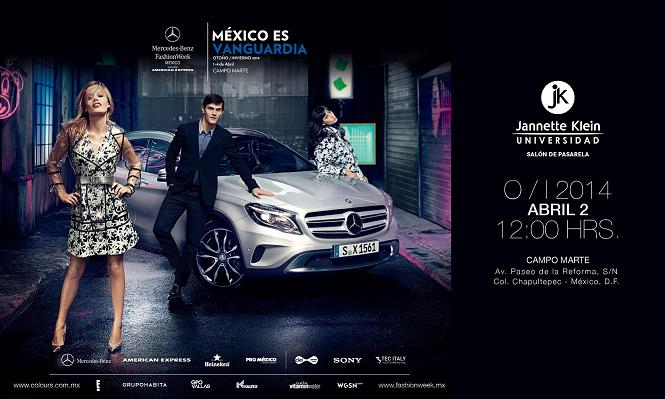 3.-Invitación Mercedes Benz Fashion Week México-Universidad Jannette Klein