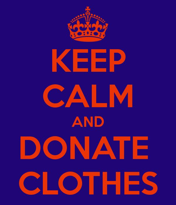 keep calm and donate