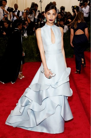 MET Gala 2015 Lilly Aldridge Carolina Herrera GI